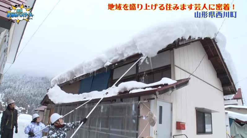 ソラシド本坊の雪下ろし